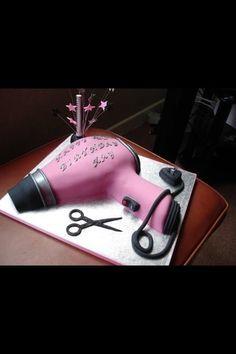 Hair dryer cake - by Donnajanecakes