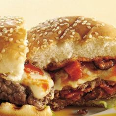 Pizza and Burger Mash-up from the grill!