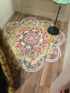 Matto maalattuna lattiaan.