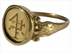 merchant's ring from Germany, dated 1564.