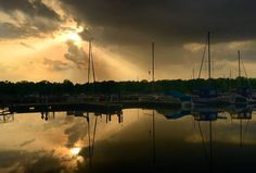 Presque Isle Bay after a storm.