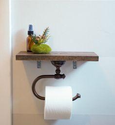 petite etagere wc et derouleur papier à mettre dans toilettes ou salle de bain