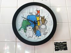 Animal Characters Clock from Ugly Baby and La Ru #MyPikePlace #Holidays