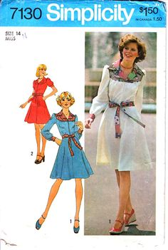 Simplicity 7130 Woman's Knee and Mini Length Yoked Shirt
