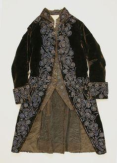 Dazzling French Court Suit  Date:1750–75  Medium: silk