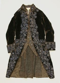 Court Suit 1750, French, Made of silk
