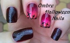 Elegant ombre #nailart for #halloween - For more easy #nail ideas please visit my YouTube channel: https://www.youtube.com/user/LifeWorldWomen Thank you! :)