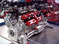 Callaway Cyclone Is Made From Four Motorcycle Engines – Engine Swap Depot Truck Engine, Engine Swap, Engine Block, Performance Engines, Performance Cars, Motorcycle Engine, Motorcycle Parts, Race Engines, Motor Engine