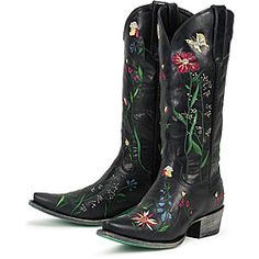 An elegant scratched turquoise sole with logo and floral-inspired stitching showcase these women's boots from Lane Boots.