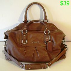 d3f3d9c060fa Coach 15447 Ashley Large Leather Satchel Handbag Walnut Brown Coach Handbags  Outlet
