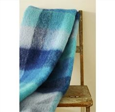 Mohair Mill Shop | Mohair Blankets | Blues Mohair Throw