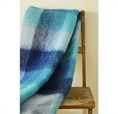 Mohair Mill Shop | Mohair Blankets | Blues Mohair Throw