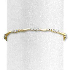 Diamond Bracelet 1/8 ct tw Round-cut 10K Yellow Gold