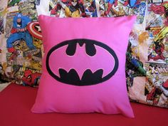 Pink Batman Pillow
