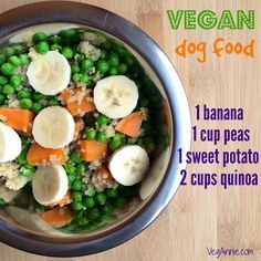Vegan Dogs Dogs are also able to survive and thrive on a vegan diet, just like humans! Here you will find vegan dog food recipes that are easy to make and sure to nourish your pup from the inside-out!/ Note her use of a commercial supplement for vegetarian/vegan dogs. Very important.