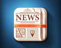 Newspaper ios icon by aditya chhatrala, via Behance - aditya26j@gmail.com