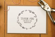 Thank You For Being Our Bridesmaid Card