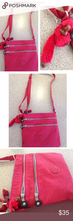 HARD TO FIND❤️❤️❤️Kipling Abner crossbody ❤️❤️ Kipling AUTHENTIC cross body HARD TO FIND❤️❤️❤️Kipling Abner crossbody.  Kipling Purse multiple compartments. New without tag. Classy sophisticated chic great for carrying make up wallet phone multiple items parties weddings shopping road trips beach spring summer adjustable strap shoulder or cross body Kipling Bags