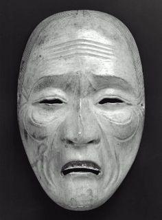 No mask of the Uba type  能面 姥  Japanese, Edo period, 18th century, Japanese cypress, MFA