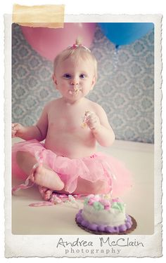 i like the idea of putting molly in just a diaper cover and/or tutu for her cake...good pictures!