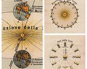 Full Moon La Luna Print Recovered Vintage by TheCuratorsPrints