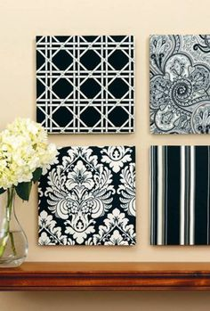 Turn your scrap fabric into wall art with this easy DIY tutorial!