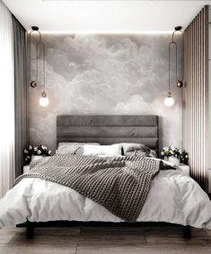 Modern Bedroom Inspirations Beds Ideas For 2020 Gray Bedroom, Home Decor Bedroom, Master Bedroom, Master Suite, Budget Bedroom, Bedroom Small, Bedroom Curtains, Bedroom Wardrobe, Lobby Design