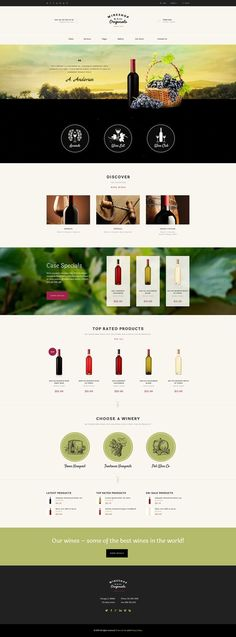 WineShop – is WordPress based online store to sell wine, food or grocery. It is good to sell organic produce, and it can also fit for winery or farm. Email Template Design, Email Design, Website Design Layout, Website Design Inspiration, Site Vitrine, Eco Store, Wine Food, Page Design, Design Layouts