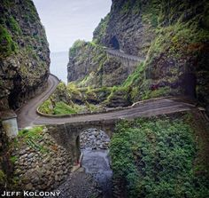 Scenic road, Madeira Portugal