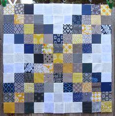 Happy Quilting: Super Scrappy Triple Irish Chain Block - A Tutorial Nine Patch, Easy Quilt Patterns, Pattern Blocks, Quilting Blogs, Quilting Ideas, Quilting Projects, Sewing Projects, Celtic Quilt, Charm Square Quilt