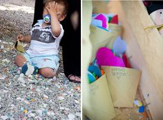 Here is (on the right) what I was looking for: confetti in origami cups