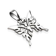 316L Surgical Steel Butterfly Pendant.  #pendant #piercing #bodypiercings #bodyjewelry #butterfly ♥ $9.99 via OnlinePiercingShop.com