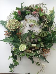 Hydrangea Wreath on Natural grapevine
