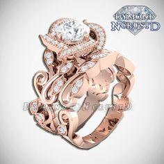 Princess Belle Inspired Swirl Rose Swarovski Rose Gold Engagement Ring Set by DymondNcrustD on Etsy https://www.etsy.com/listing/456457270/princess-belle-inspired-swirl-rose