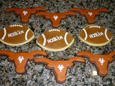 University of Texas Longhorn and Hook 'Em Football cookies - Cake Doctor, LLC