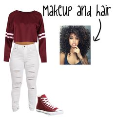 """""""😍😍"""" by french-fry-lioness on Polyvore featuring Converse"""