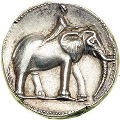 Spain, Carthago Nova. The Barcids. Time of Hannibal, ca. 221-208 BC. Silver Double Shekel (14.7g). Minted at Carthago Nova, ca. 220 BC.