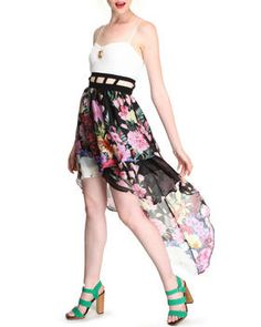 Daisy Floral Printed Dress by DJP OUTLET @ DrJays.com