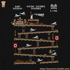 Donkey Kong inspired Indiana Jones Video Game Art - News - GeekTyrant