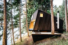 Set high on a hill among the Douglas fir trees of British Columbia's Gulf Islands, the Valdes Island Shack is an off-grid labor of love. Built by Burnkit designer/founder Josh Dunford, this simple getaway was conceived as a tilted box,...