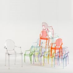 acrylic chairs - like clear best  colors for kids' rooms
