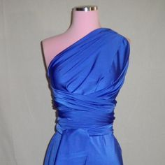 Royal Blue Infinity Convertible Wrap Dress... via Etsy.    Can be made into different shapes and comes in other colors.