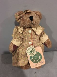 "Boyds Bears Teddy Bear Jointed Plush Brown 8""  LIZZIE MCBEE Archive Collection  #Boyds #AllOccasion"