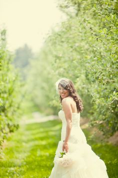 Country Bride At County Line Orchard