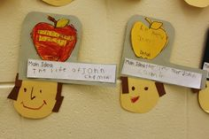 Johnny Appleseed activity, after creating anchor chart