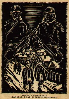 Romanian feldpost postcard from 1944. It basically says 'Germany and Romania comrades today and forever'.