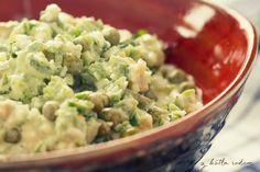 Sałatka z kurczakiem na zielono - odświeżamy wspomnienia tamtych lat...:-) #salatka