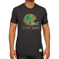 Notre Dame Fighting Irish Original Retro Brand Vintage Tri-Blend T-Shirt - Black - $29.99