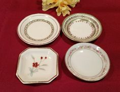 LOVELY Vintage Butter Pat Collection of 4 / 1  by AmazingFun
