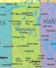 Saskatchewan, Saskatoon to PA, down by Yorkton and over to Regina... Toured the province this summer